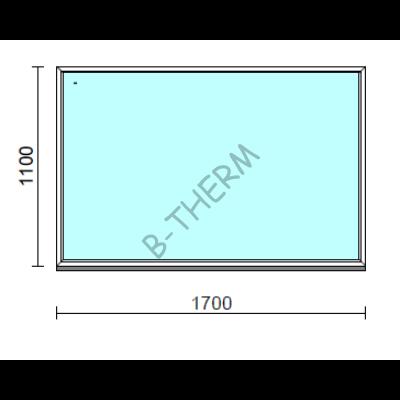 Fix ablak.  170x110 cm (Rendelhető méretek: szélesség 165-174 cm, magasság 105-114 cm.)  New Balance 85 profilból
