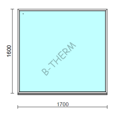 Fix ablak.  170x160 cm (Rendelhető méretek: szélesség 165-174 cm, magasság 155-164 cm.)  New Balance 85 profilból