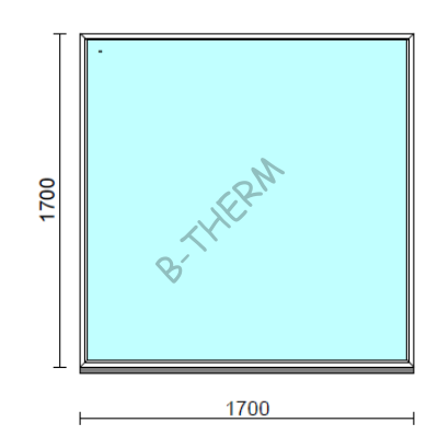 Fix ablak.  170x170 cm (Rendelhető méretek: szélesség 165-174 cm, magasság 165-174 cm.)  New Balance 85 profilból