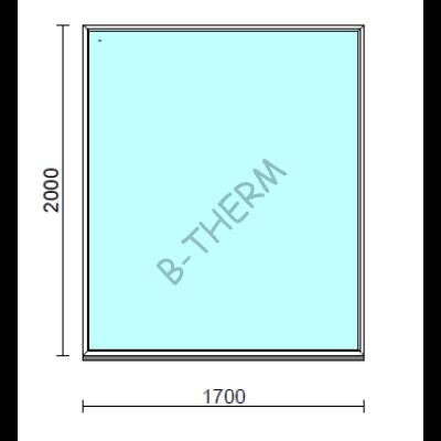 Fix ablak.  170x200 cm (Rendelhető méretek: szélesség 165-174 cm, magasság 195-204 cm.)  New Balance 85 profilból