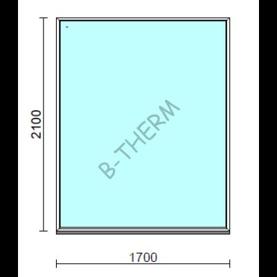 Fix ablak.  170x210 cm (Rendelhető méretek: szélesség 165-174 cm, magasság 205-214 cm.)  New Balance 85 profilból