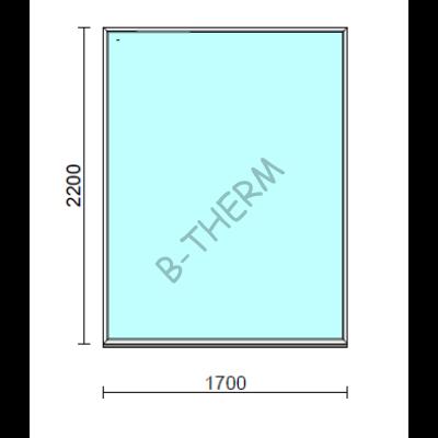 Fix ablak.  170x220 cm (Rendelhető méretek: szélesség 165-174 cm, magasság 215-224 cm.)  New Balance 85 profilból