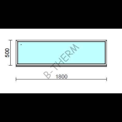 Fix ablak.  180x 50 cm (Rendelhető méretek: szélesség 175-184 cm, magasság 50-54 cm.)  New Balance 85 profilból