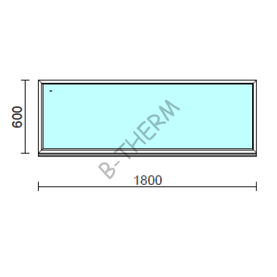 Fix ablak.  180x 60 cm (Rendelhető méretek: szélesség 175-184 cm, magasság 55-64 cm.)  New Balance 85 profilból