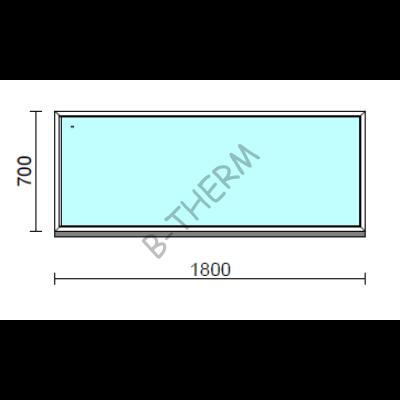 Fix ablak.  180x 70 cm (Rendelhető méretek: szélesség 175-184 cm, magasság 65-74 cm.)  New Balance 85 profilból