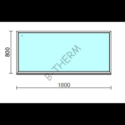 Fix ablak.  180x 80 cm (Rendelhető méretek: szélesség 175-184 cm, magasság 75-84 cm.)  New Balance 85 profilból