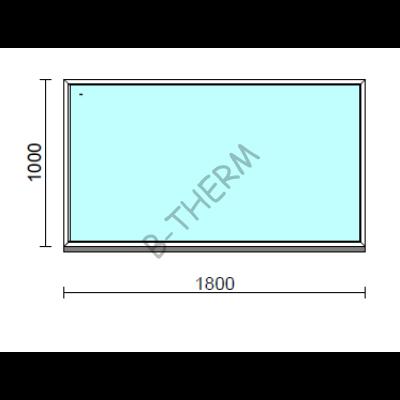 Fix ablak.  180x100 cm (Rendelhető méretek: szélesség 175-184 cm, magasság 95-104 cm.)  New Balance 85 profilból