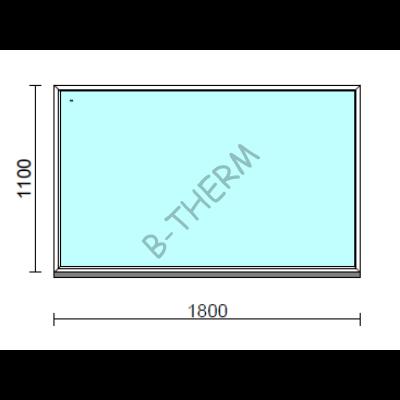 Fix ablak.  180x110 cm (Rendelhető méretek: szélesség 175-184 cm, magasság 105-114 cm.)  New Balance 85 profilból