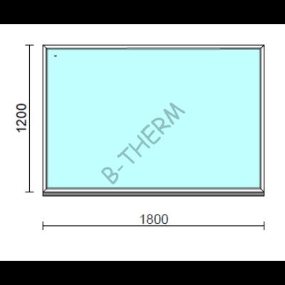 Fix ablak.  180x120 cm (Rendelhető méretek: szélesség 175-184 cm, magasság 115-124 cm.)  New Balance 85 profilból