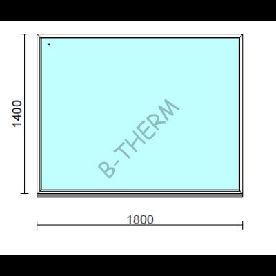 Fix ablak.  180x140 cm (Rendelhető méretek: szélesség 175-184 cm, magasság 135-144 cm.)  New Balance 85 profilból