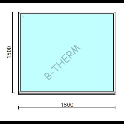 Fix ablak.  180x150 cm (Rendelhető méretek: szélesség 175-184 cm, magasság 145-154 cm.)  New Balance 85 profilból