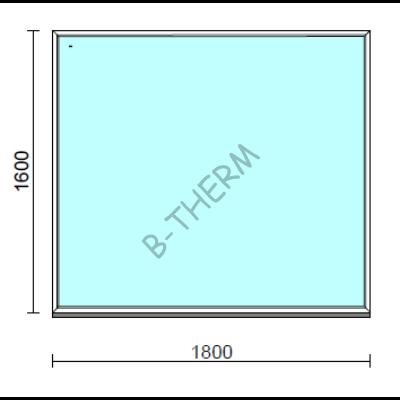 Fix ablak.  180x160 cm (Rendelhető méretek: szélesség 175-184 cm, magasság 155-164 cm.)  New Balance 85 profilból