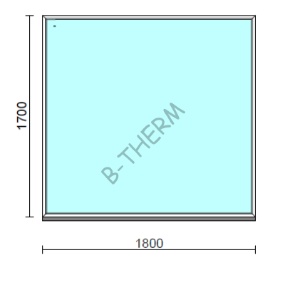 Fix ablak.  180x170 cm (Rendelhető méretek: szélesség 175-184 cm, magasság 165-174 cm.)  New Balance 85 profilból
