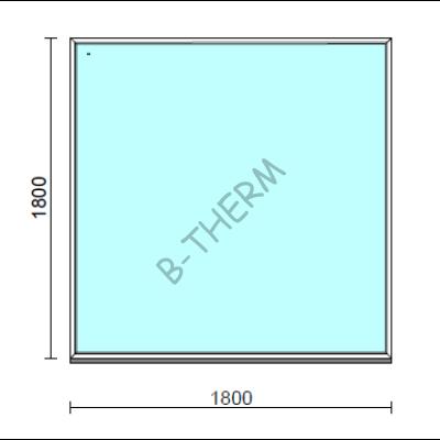 Fix ablak.  180x180 cm (Rendelhető méretek: szélesség 175-184 cm, magasság 175-184 cm.)  New Balance 85 profilból