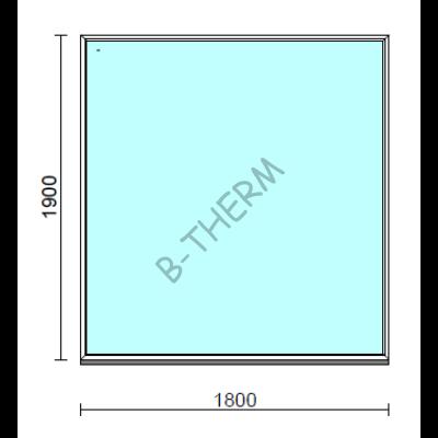 Fix ablak.  180x190 cm (Rendelhető méretek: szélesség 175-184 cm, magasság 185-194 cm.)  New Balance 85 profilból