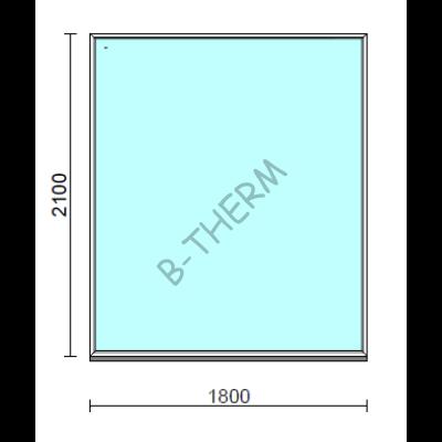 Fix ablak.  180x210 cm (Rendelhető méretek: szélesség 175-184 cm, magasság 205-214 cm.)  New Balance 85 profilból