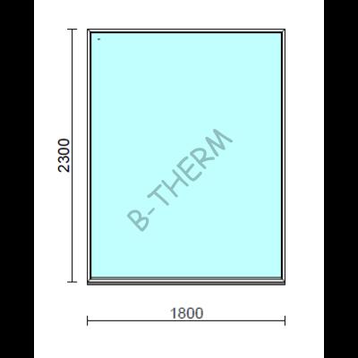 Fix ablak.  180x230 cm (Rendelhető méretek: szélesség 175-180 cm, magasság 225-230 cm.)  New Balance 85 profilból
