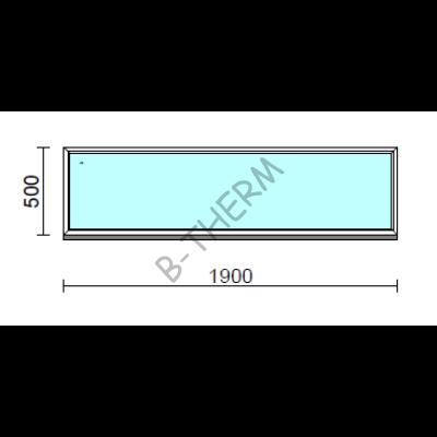 Fix ablak.  190x 50 cm (Rendelhető méretek: szélesség 185-194 cm, magasság 50-54 cm.)  New Balance 85 profilból
