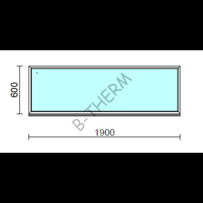 Fix ablak.  190x 60 cm (Rendelhető méretek: szélesség 185-194 cm, magasság 55-64 cm.)  New Balance 85 profilból
