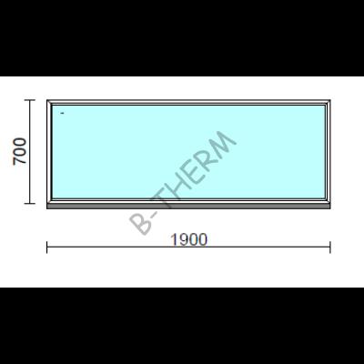Fix ablak.  190x 70 cm (Rendelhető méretek: szélesség 185-194 cm, magasság 65-74 cm.)  New Balance 85 profilból