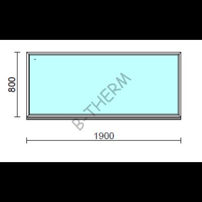 Fix ablak.  190x 80 cm (Rendelhető méretek: szélesség 185-194 cm, magasság 75-84 cm.)  New Balance 85 profilból