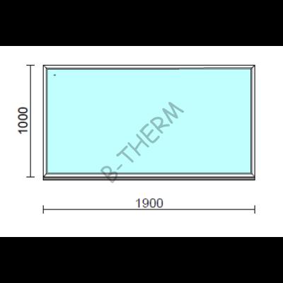 Fix ablak.  190x100 cm (Rendelhető méretek: szélesség 185-194 cm, magasság 95-104 cm.)  New Balance 85 profilból