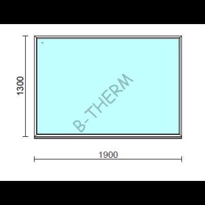 Fix ablak.  190x130 cm (Rendelhető méretek: szélesség 185-194 cm, magasság 125-134 cm.)  New Balance 85 profilból
