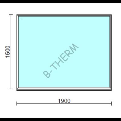 Fix ablak.  190x150 cm (Rendelhető méretek: szélesség 185-194 cm, magasság 145-154 cm.)  New Balance 85 profilból