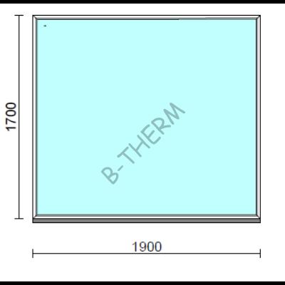 Fix ablak.  190x170 cm (Rendelhető méretek: szélesség 185-194 cm, magasság 165-174 cm.)  New Balance 85 profilból