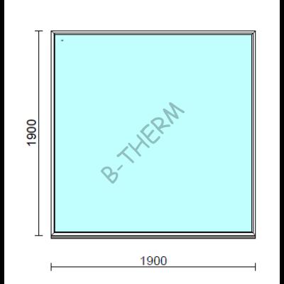 Fix ablak.  190x190 cm (Rendelhető méretek: szélesség 185-194 cm, magasság 185-194 cm.)  New Balance 85 profilból