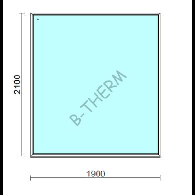 Fix ablak.  190x210 cm (Rendelhető méretek: szélesség 185-194 cm, magasság 205-214 cm.)  New Balance 85 profilból