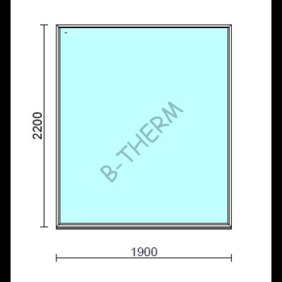 Fix ablak.  190x220 cm (Rendelhető méretek: szélesség 185-194 cm, magasság 215-224 cm.)  New Balance 85 profilból