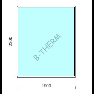 Fix ablak.  190x230 cm (Rendelhető méretek: szélesség 185-190 cm, magasság 225-230 cm.)  New Balance 85 profilból