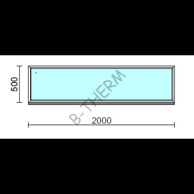 Fix ablak.  200x 50 cm (Rendelhető méretek: szélesség 195-204 cm, magasság 50-54 cm.)  New Balance 85 profilból