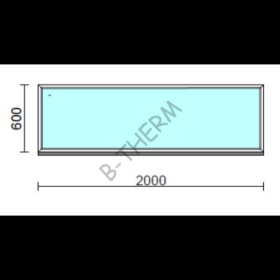 Fix ablak.  200x 60 cm (Rendelhető méretek: szélesség 195-204 cm, magasság 55-64 cm.)  New Balance 85 profilból