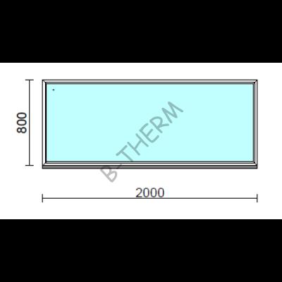 Fix ablak.  200x 80 cm (Rendelhető méretek: szélesség 195-204 cm, magasság 75-84 cm.)  New Balance 85 profilból