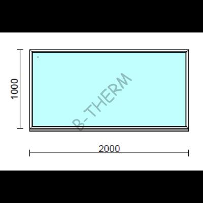 Fix ablak.  200x100 cm (Rendelhető méretek: szélesség 195-204 cm, magasság 95-104 cm.)  New Balance 85 profilból