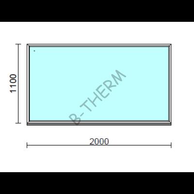 Fix ablak.  200x110 cm (Rendelhető méretek: szélesség 195-204 cm, magasság 105-114 cm.)  New Balance 85 profilból