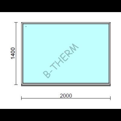 Fix ablak.  200x140 cm (Rendelhető méretek: szélesség 195-204 cm, magasság 135-144 cm.)  New Balance 85 profilból