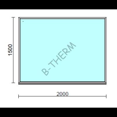 Fix ablak.  200x150 cm (Rendelhető méretek: szélesség 195-204 cm, magasság 145-154 cm.)  New Balance 85 profilból