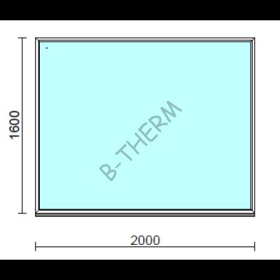 Fix ablak.  200x160 cm (Rendelhető méretek: szélesség 195-204 cm, magasság 155-164 cm.)  New Balance 85 profilból