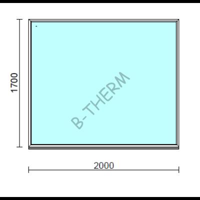 Fix ablak.  200x170 cm (Rendelhető méretek: szélesség 195-204 cm, magasság 165-174 cm.)  New Balance 85 profilból