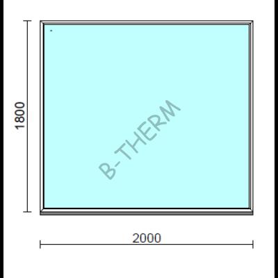 Fix ablak.  200x180 cm (Rendelhető méretek: szélesség 195-204 cm, magasság 175-184 cm.)  New Balance 85 profilból