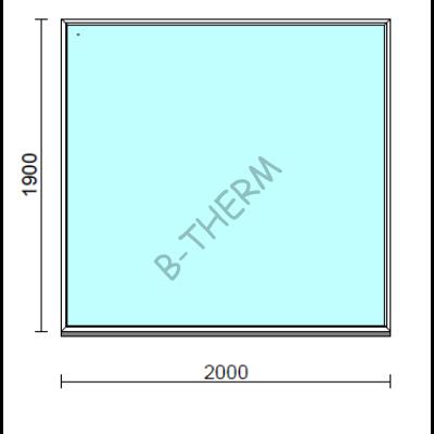 Fix ablak.  200x190 cm (Rendelhető méretek: szélesség 195-204 cm, magasság 185-194 cm.)  New Balance 85 profilból