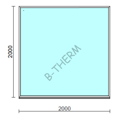 Fix ablak.  200x200 cm (Rendelhető méretek: szélesség 195-204 cm, magasság 195-204 cm.)  New Balance 85 profilból
