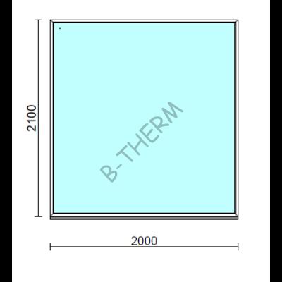 Fix ablak.  200x210 cm (Rendelhető méretek: szélesség 195-204 cm, magasság 205-214 cm.)  New Balance 85 profilból