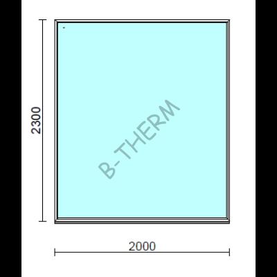 Fix ablak.  200x230 cm (Rendelhető méretek: szélesség 195-200 cm, magasság 225-230 cm.)  New Balance 85 profilból