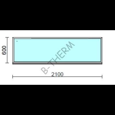 Fix ablak.  210x 60 cm (Rendelhető méretek: szélesség 205-214 cm, magasság 55-64 cm.)  New Balance 85 profilból