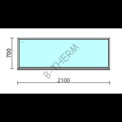 Fix ablak.  210x 70 cm (Rendelhető méretek: szélesség 205-214 cm, magasság 65-74 cm.)  New Balance 85 profilból