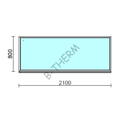 Fix ablak.  210x 80 cm (Rendelhető méretek: szélesség 205-214 cm, magasság 75-84 cm.)  New Balance 85 profilból